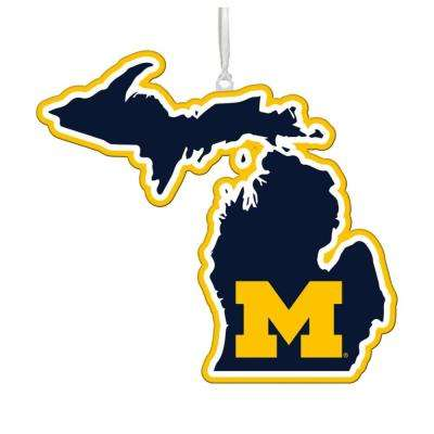 University of Michigan 5 in. NCAA Team State Christmas Ornament