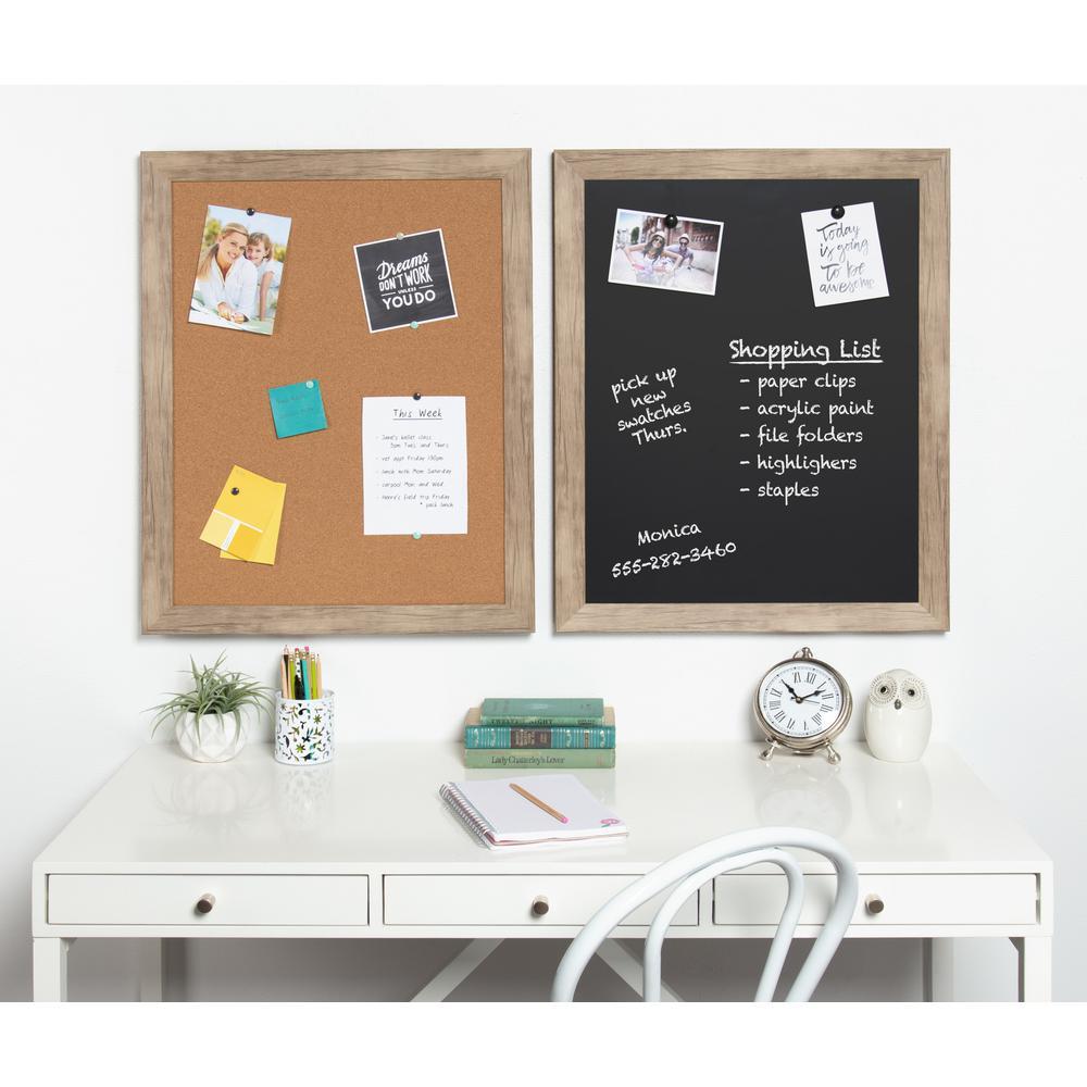 DesignOvation Beatrice Framed Cork Memo Board 211630