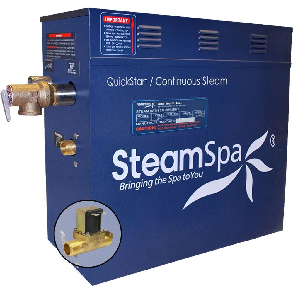 9kW QuickStart Steam Bath Generator with Built-In Auto Drain