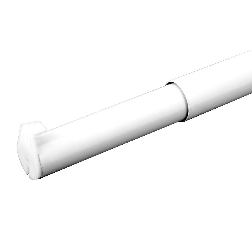 Superieur White Adjustable Closet Rod