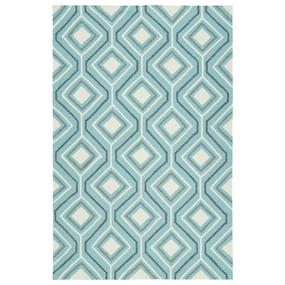 Escape Blue 5 Ft X 8 Indoor Outdoor Area Rug
