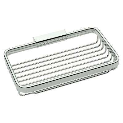 Hotelier 8 in. Toiletry Basket in Polished Chrome