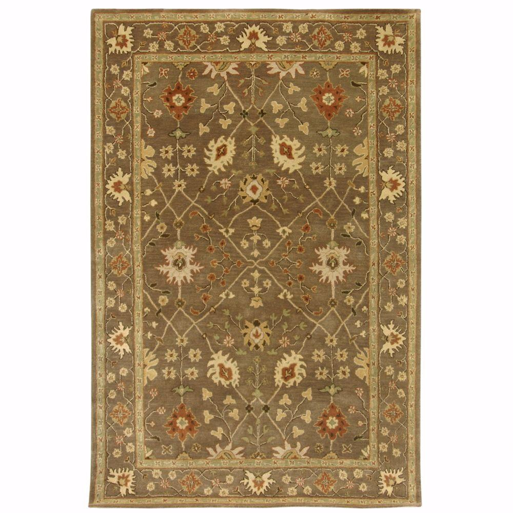 Home Decorators Collection Dijon Grey and Brown 8 ft. x 11 ft. Area Rug