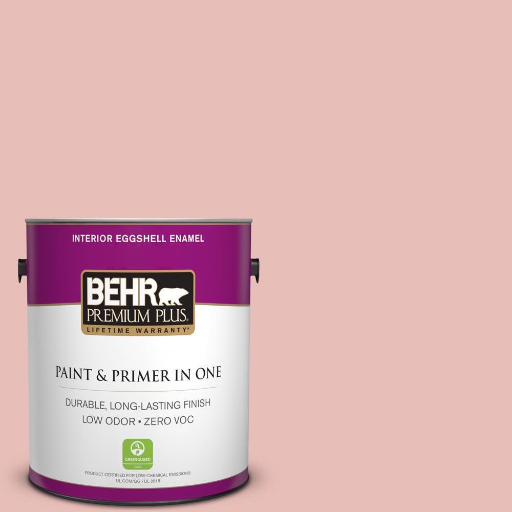 1 gal. #T18-01 Positively Pink Zero VOC Eggshell Enamel Interior Paint