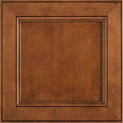 14-9/16 x 14-1/2 in. Cabinet Door Sample in MacArthur Maple Auburn Glaze