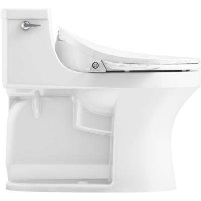 San Souci 1-Piece 1.28 GPF Single Flush Elongated Toilet in White Seat Included