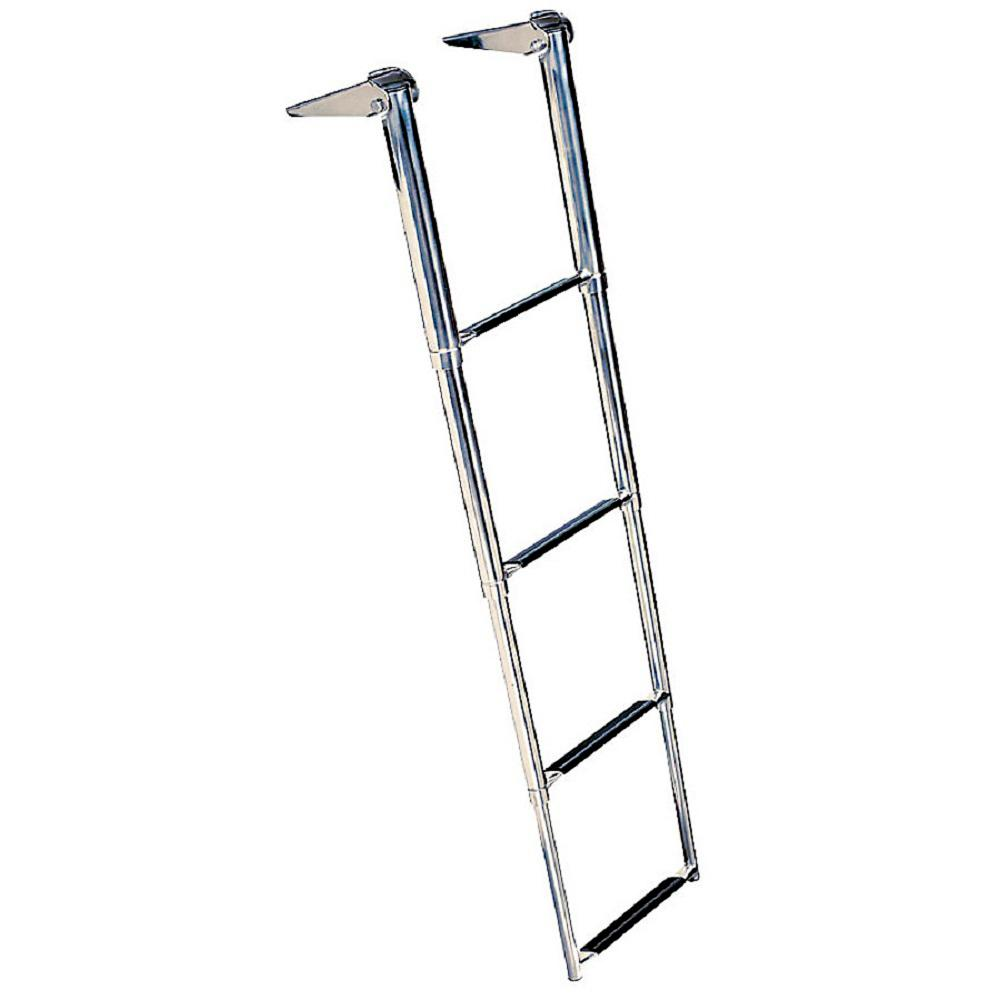 Seachoice 4-Step Telescoping Ladder Only for Universal Swim Platform with  Top Mount Ladder