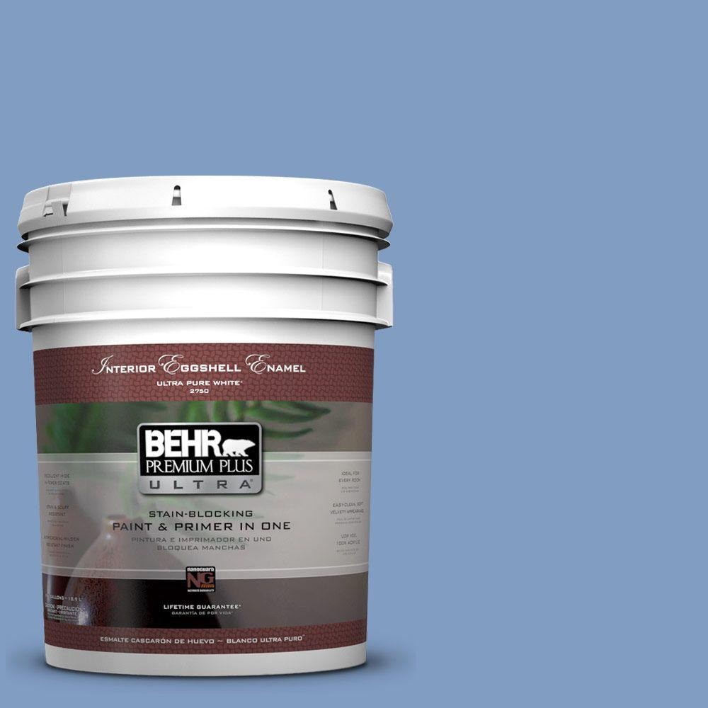 BEHR Premium Plus Ultra 5-gal. #M530-4 Washed Denim Eggshell Enamel Interior Paint