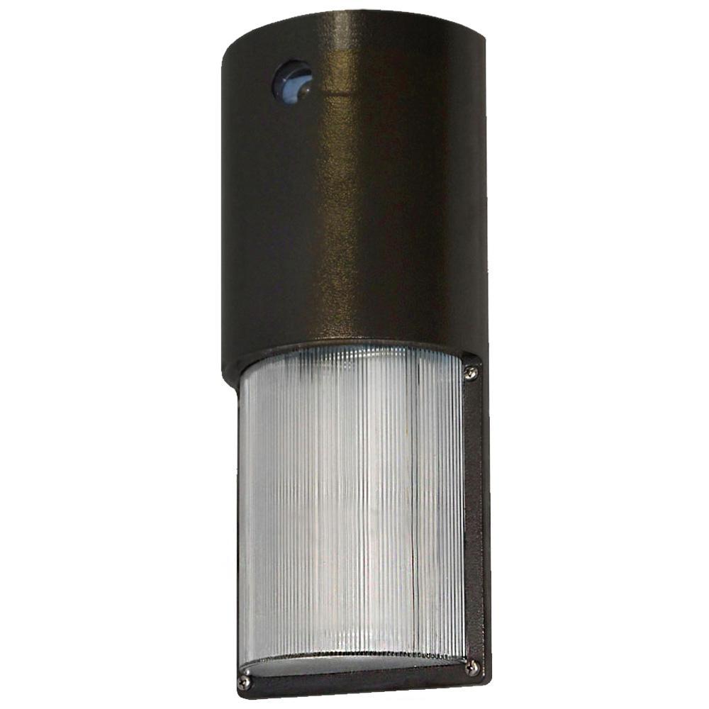 7-Watt Bronze Outdoor Integrated LED Wall Pack Light