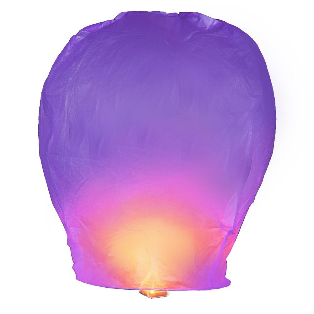 Purple Sky Lanterns (Set of 4)
