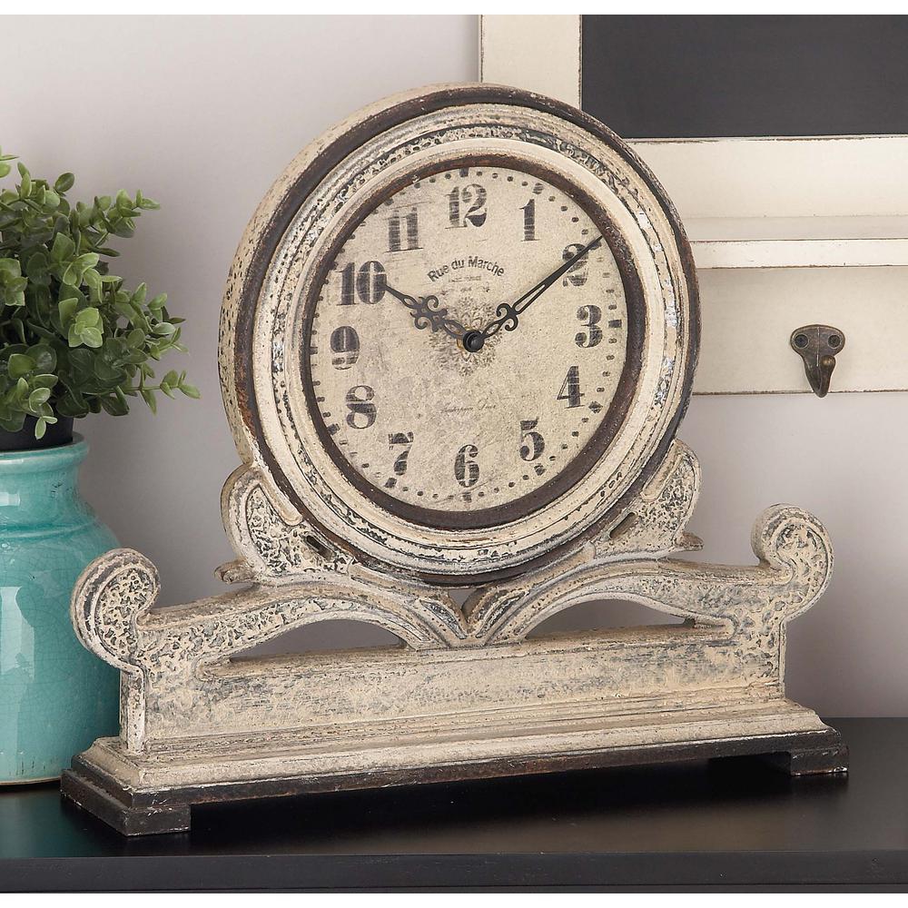 Rustic 15 in. x 16 in. Table Clock