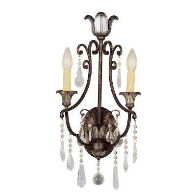Cabernet Collection 2-Light Antique Bronze Sconce