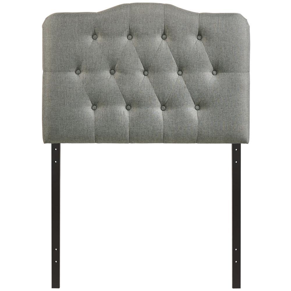 Annabel Gray Twin Upholstered Fabric Headboard