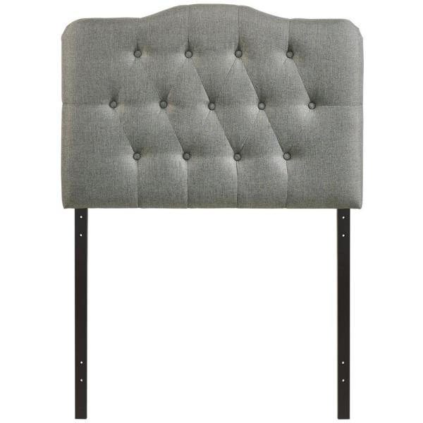 Annabel Gray Twin Upholstered Fabric Headboard