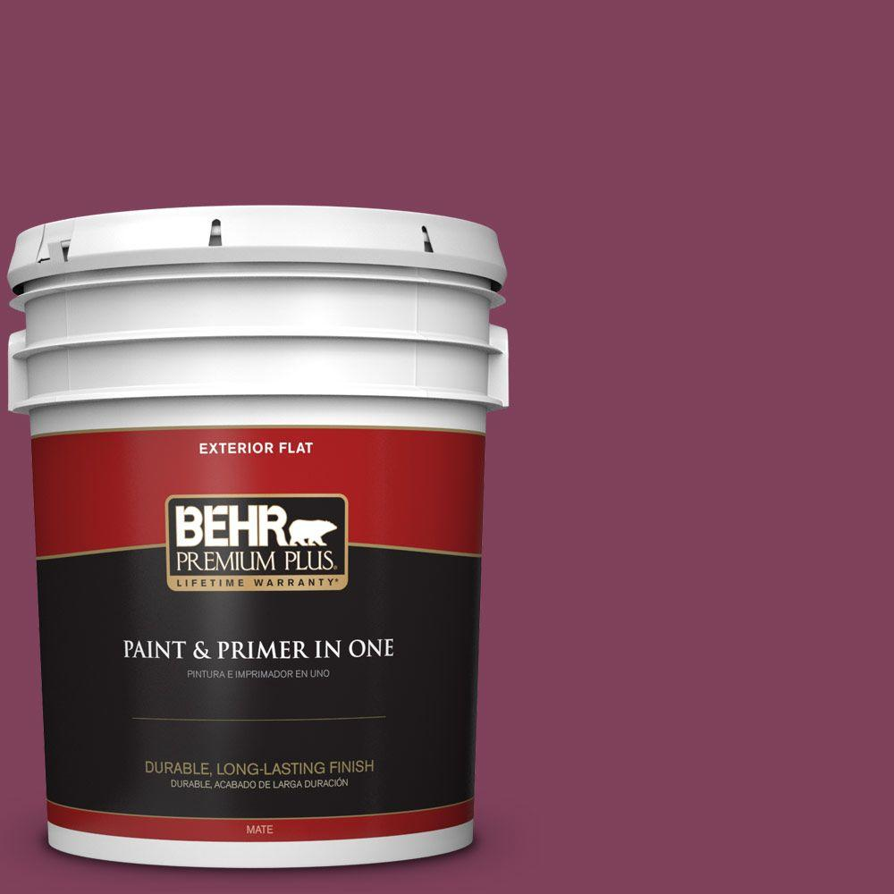 Home Decorators Collection 5-gal. #HDC-WR14-12 Cheerful Wine Flat Exterior Paint