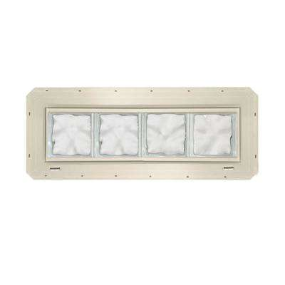 31.75 in. x 9.25 in. x 3.25 in. Wave Pattern Glass Block Window with Almond Colored Vinyl Nailing Fin