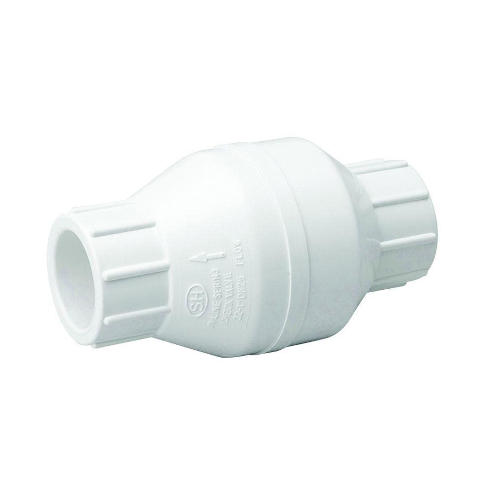 Mueller Global 3/4 in. PVC Solvent-Weld Check Valve-101-604HC - The ...