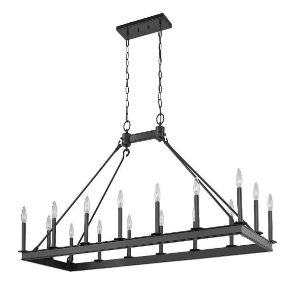 Filament Design 16 Light Matte Black Billiard Light Hd Te50735 The Home Depot