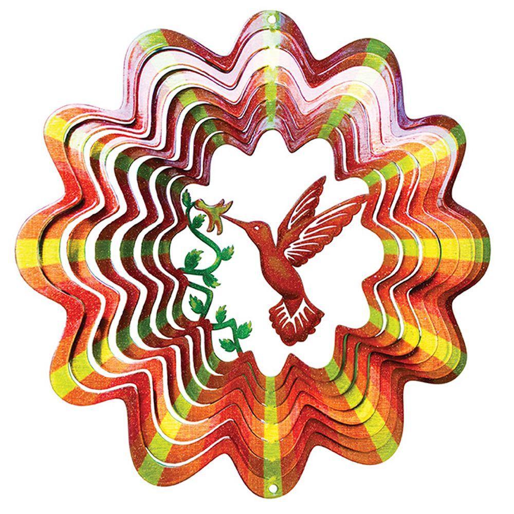 Iron Stop Designer Animated Hummingbird Wind Spinner