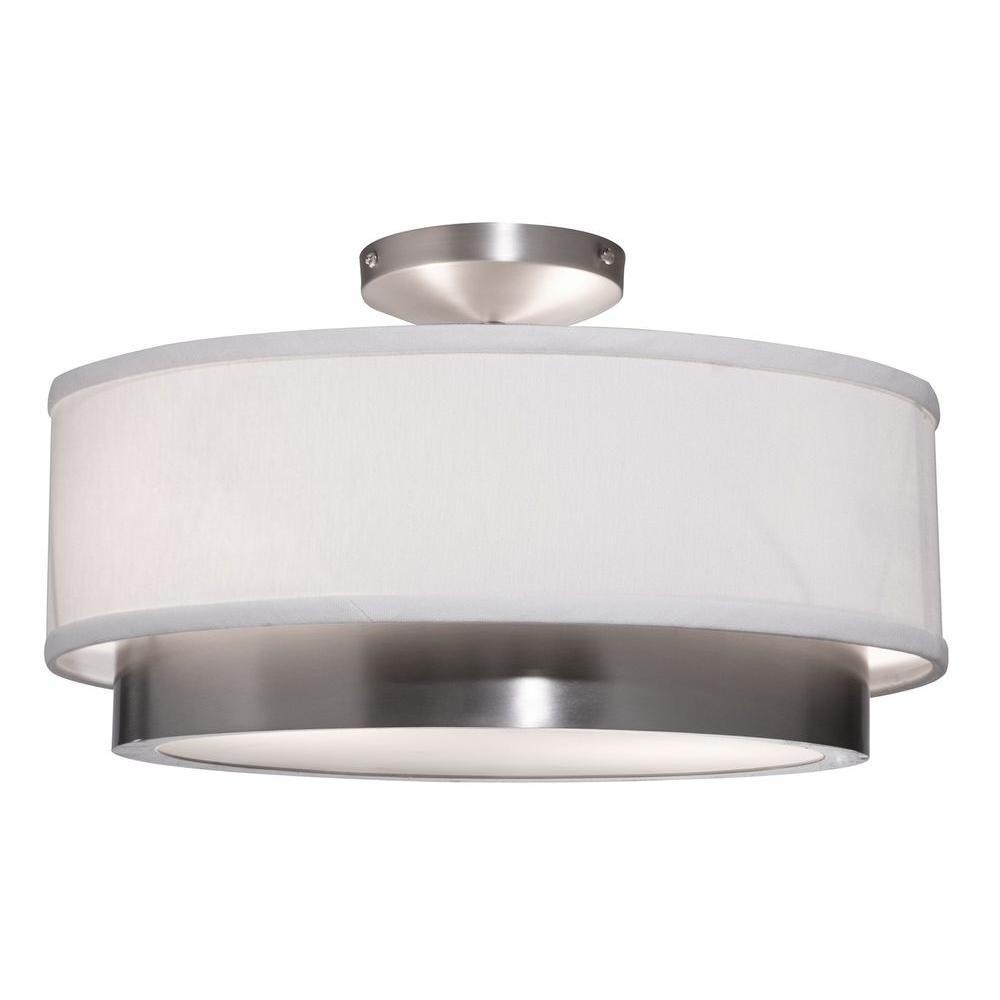 Scandia 2-Light Brushed Nickel Semi-Flush Mount Light