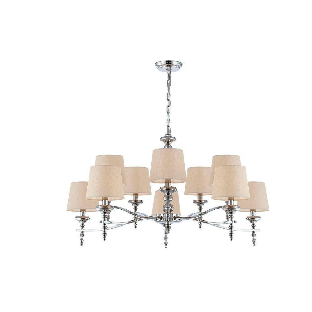 null Jana Collection 10-Light Polished Nickel Chandelier