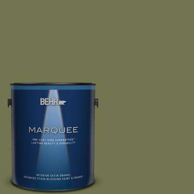 1 gal. #S360-6 Secret Meadow Satin Enamel Interior Paint and Primer in One