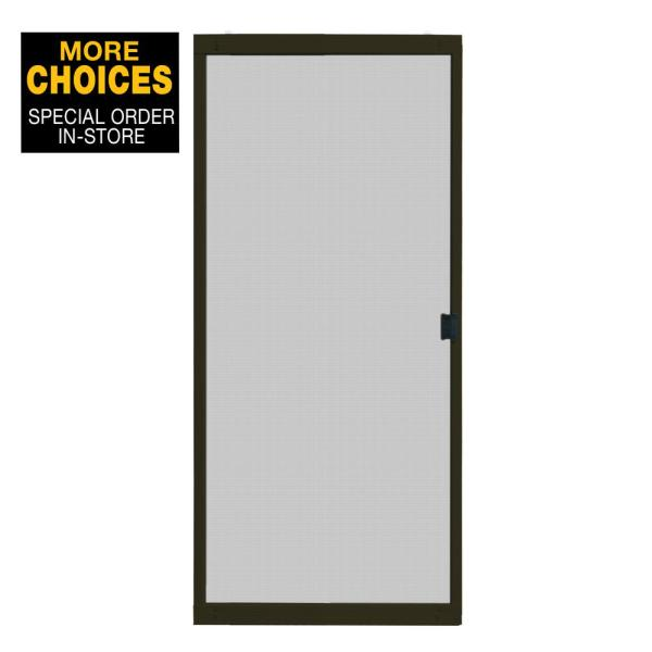 Unique Home Designs 36 In X 80 In Adjustable Fit White Metal Sliding Patio Screen Door Ispm500036wht The Home Depot