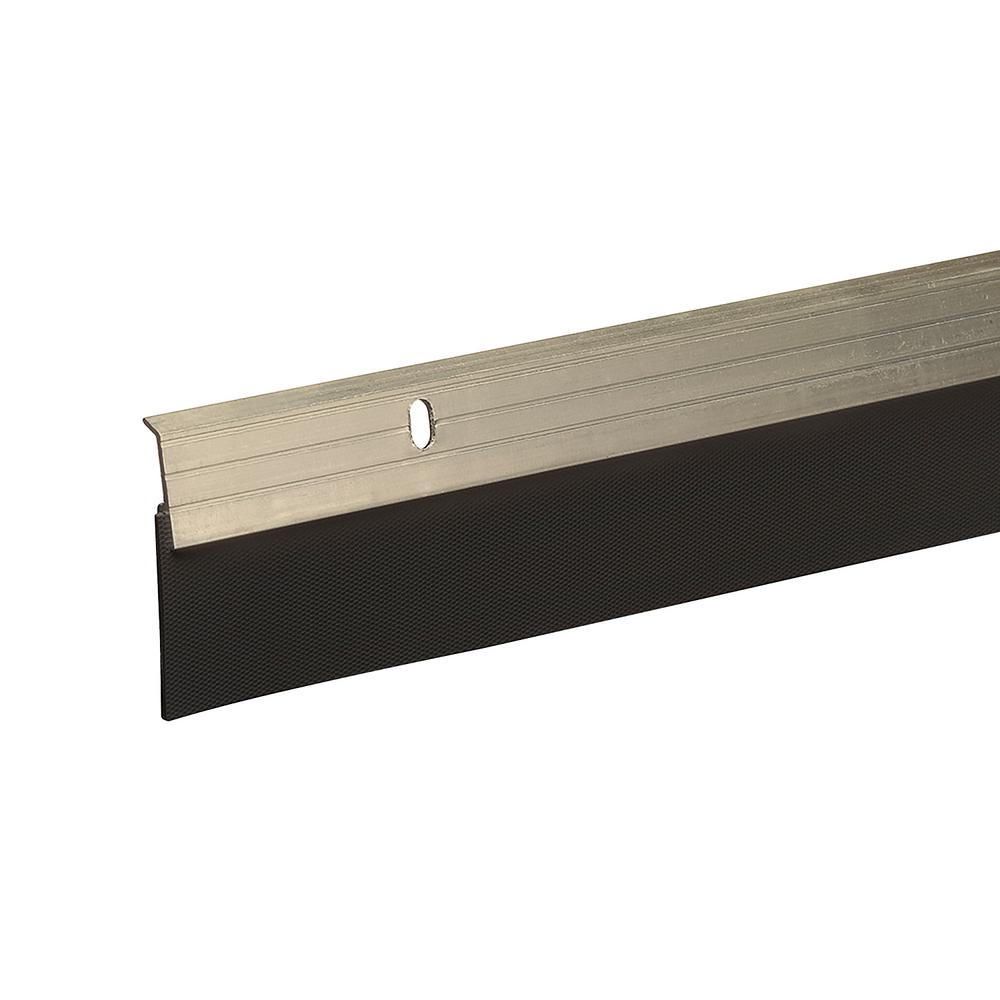 E/O 2 in. x 36 in. Satin Nickel Reinforced Rubber Door