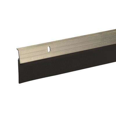 E/O 2 in. x 36 in. Satin Nickel Reinforced Rubber Door Sweep
