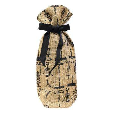 Jute Wine Bag (4-Pack)
