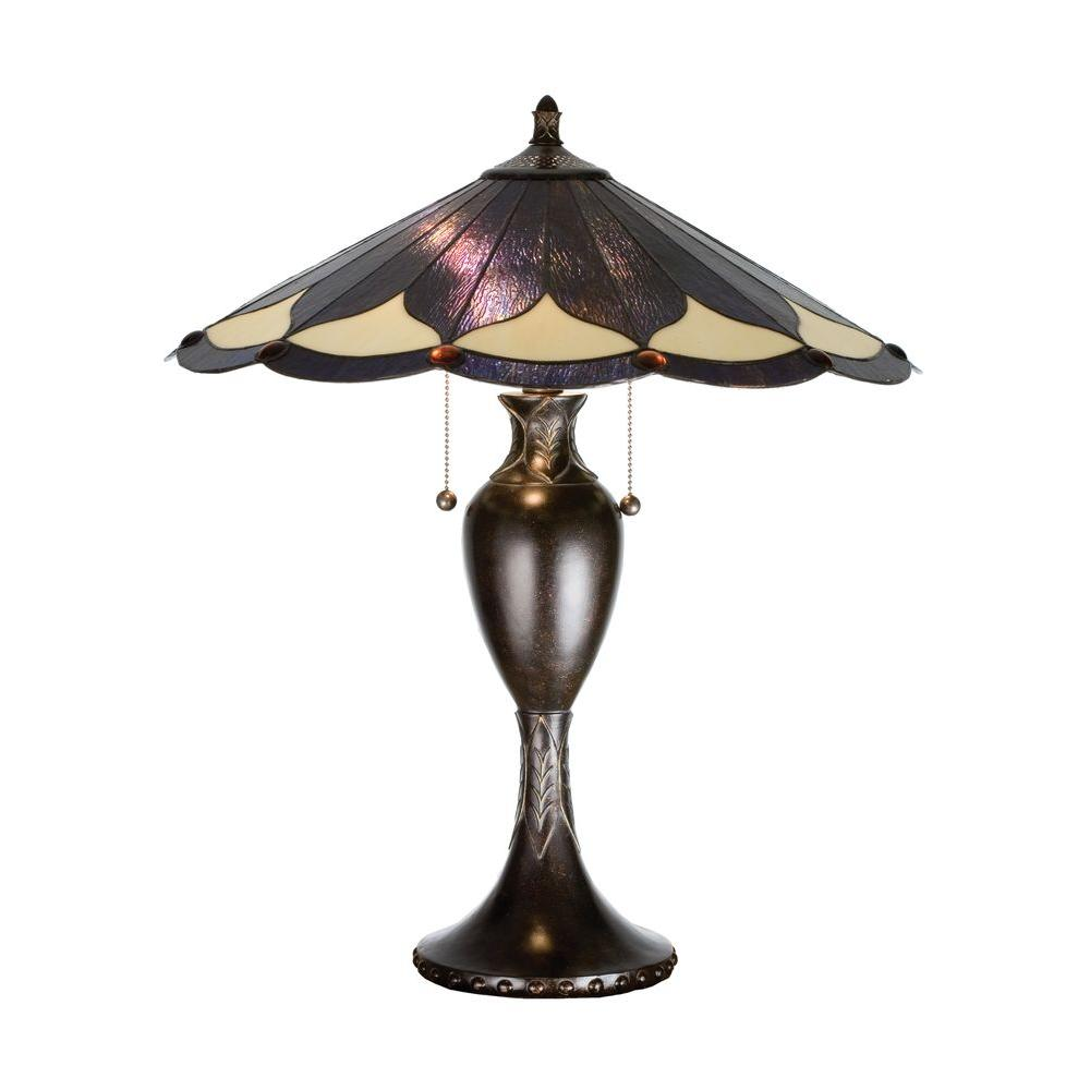Illumine 2 Dahlia Table Lamp Dappled Bronze Finish