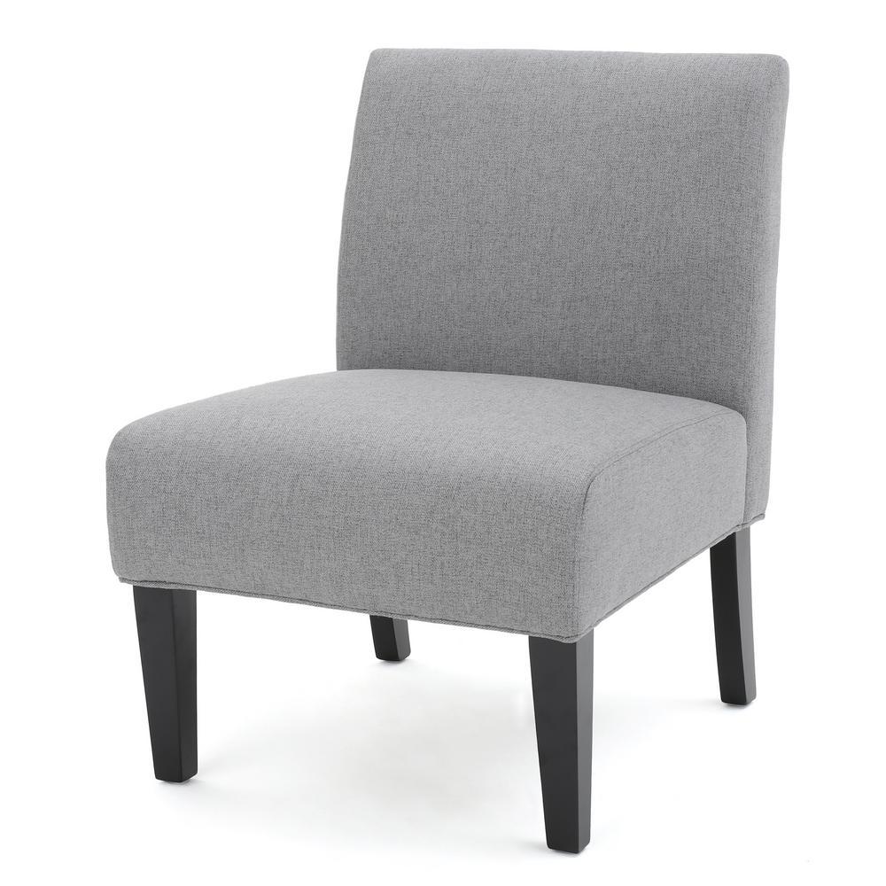 Galilea Grey Fabric Accent Chair