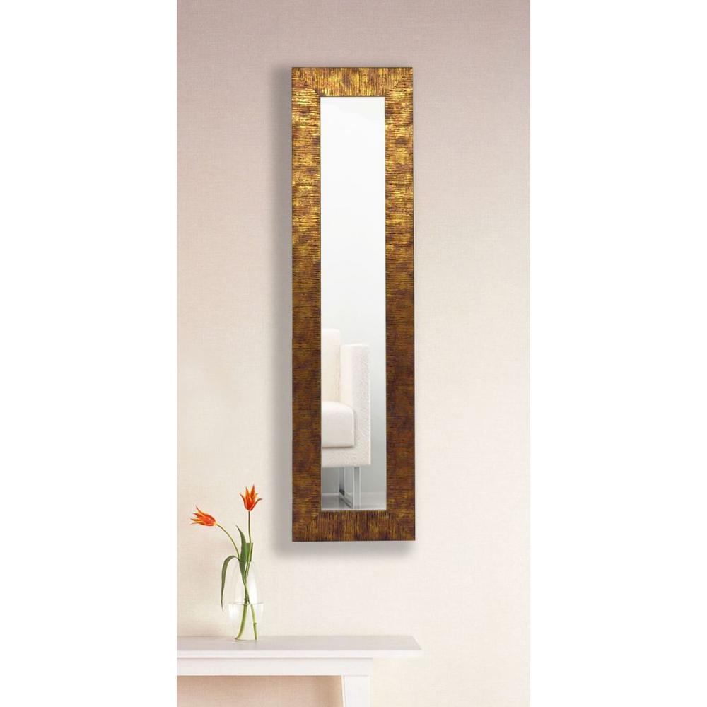 9.5 in. x 27.5 in. Safari Bronze Vanity Mirror Single Panel