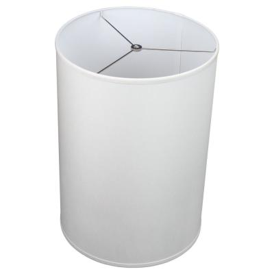 14 in. Top Diameter x 14 in. Bottom Diameter x 20 in. Height Linen White Drum Lamp Shade