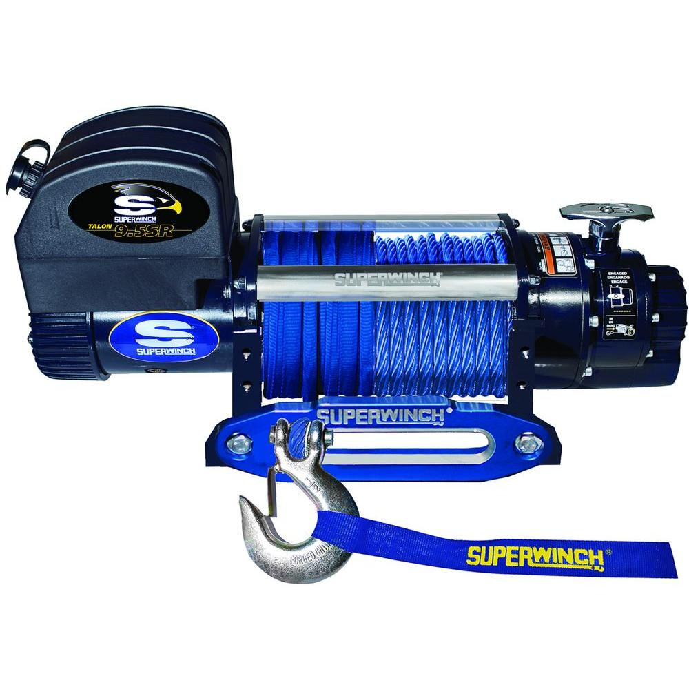 Superwinch Talon 9.5SR 12-Volt DC Off-Road Winch with Hawse Fairlead and Synthetic Rope
