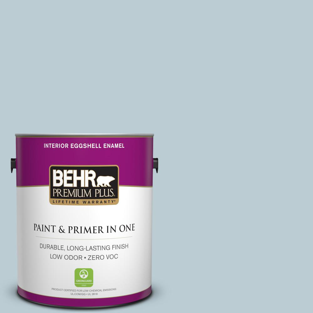 BEHR Premium Plus 1-gal. #540E-2 Cloudy Day Zero VOC Eggshell Enamel Interior Paint