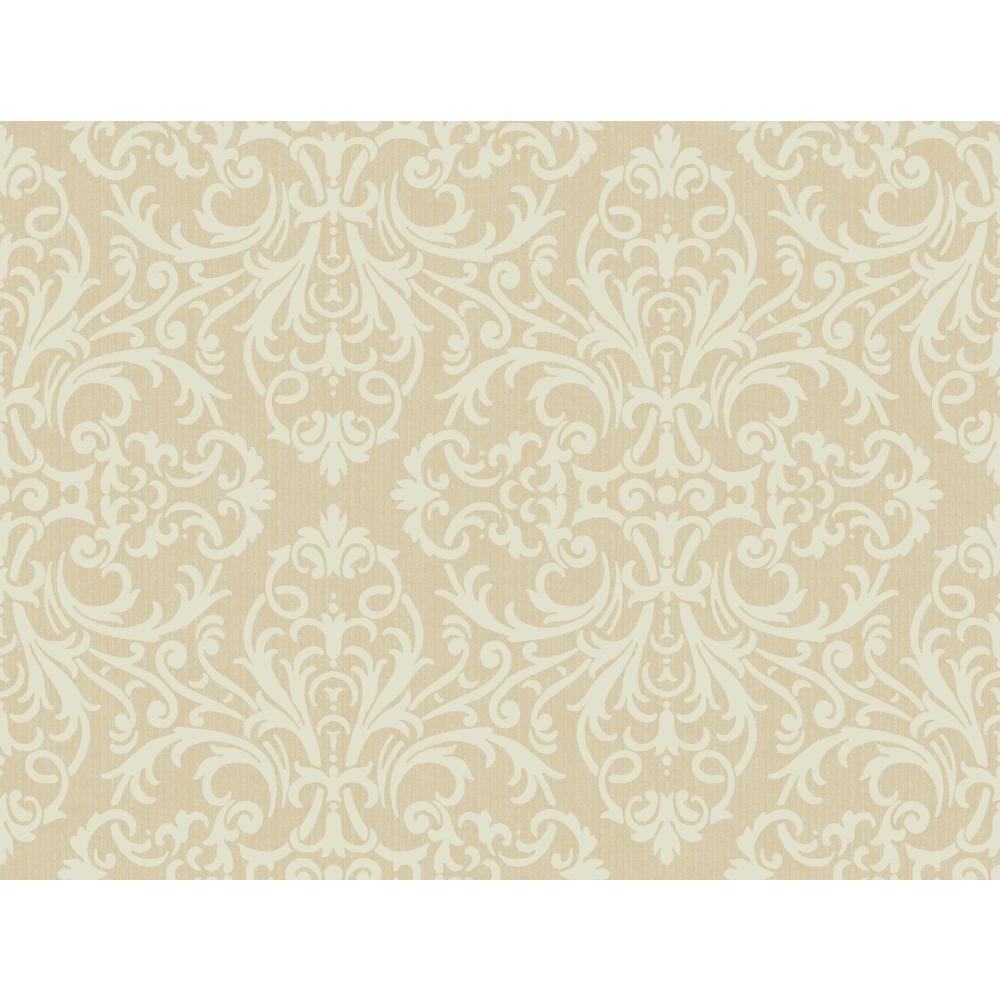 York Wallcoverings Open Damask Wallpaper