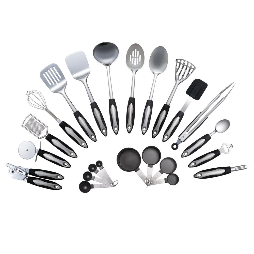 Culinary edge stainless steel kitchen utensil set set of 23 culinary edge stainless steel kitchen utensil set set of 23 teraionfo