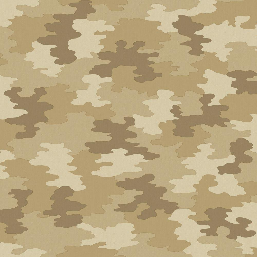 The Wallpaper Company 56 sq. ft. Brown Camouflage Wallpaper