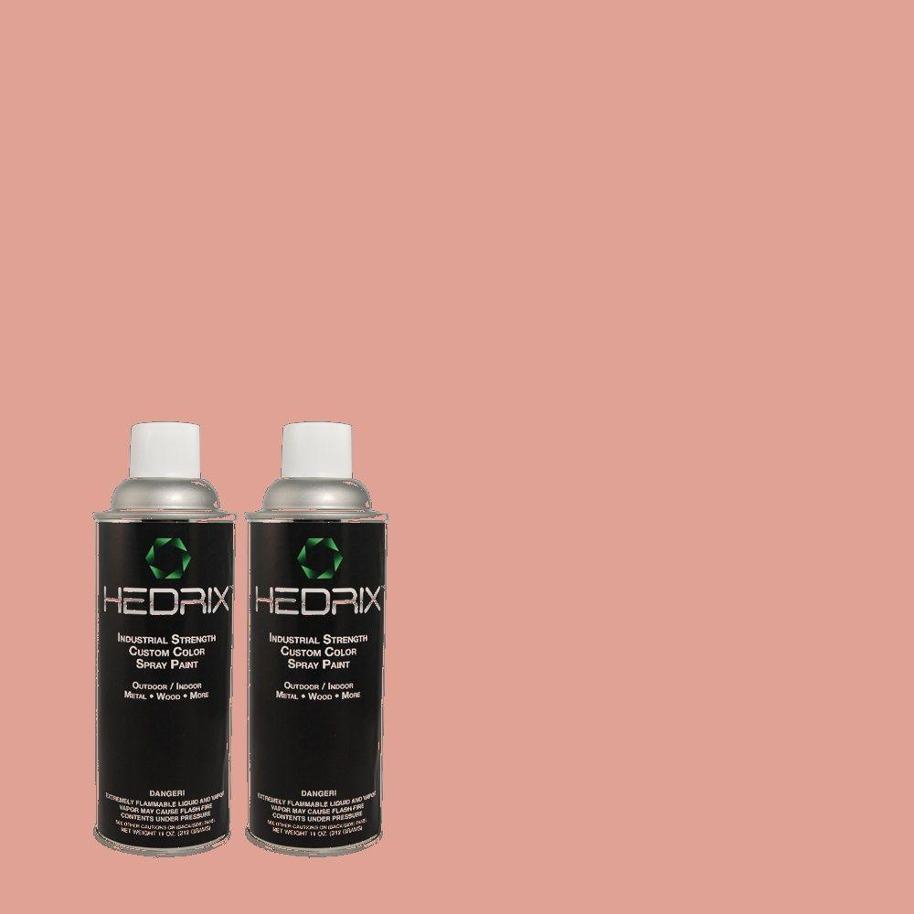 Hedrix 11 oz. Match of TH-37 Tea Dye Rose Flat Custom Spray Paint (2-Pack)
