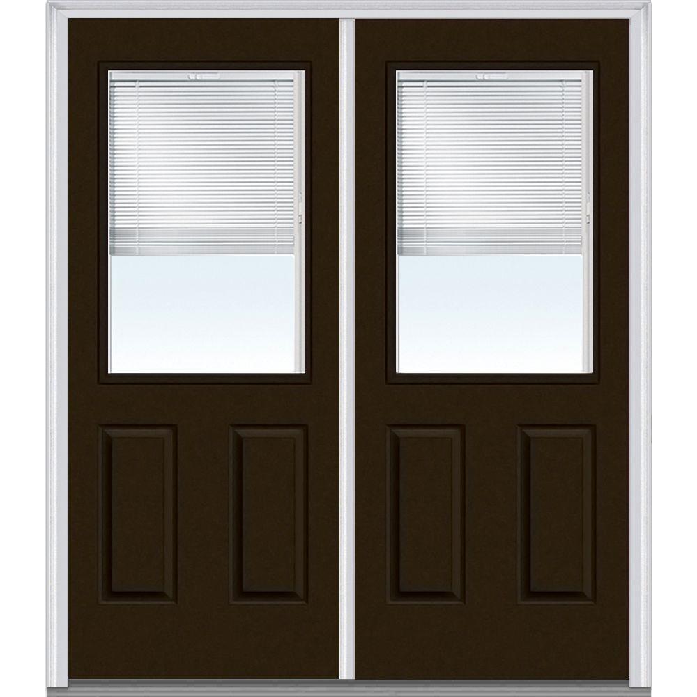 Mmi door 72 in x 80 in internal blinds clear right hand for 72 x 80 exterior door