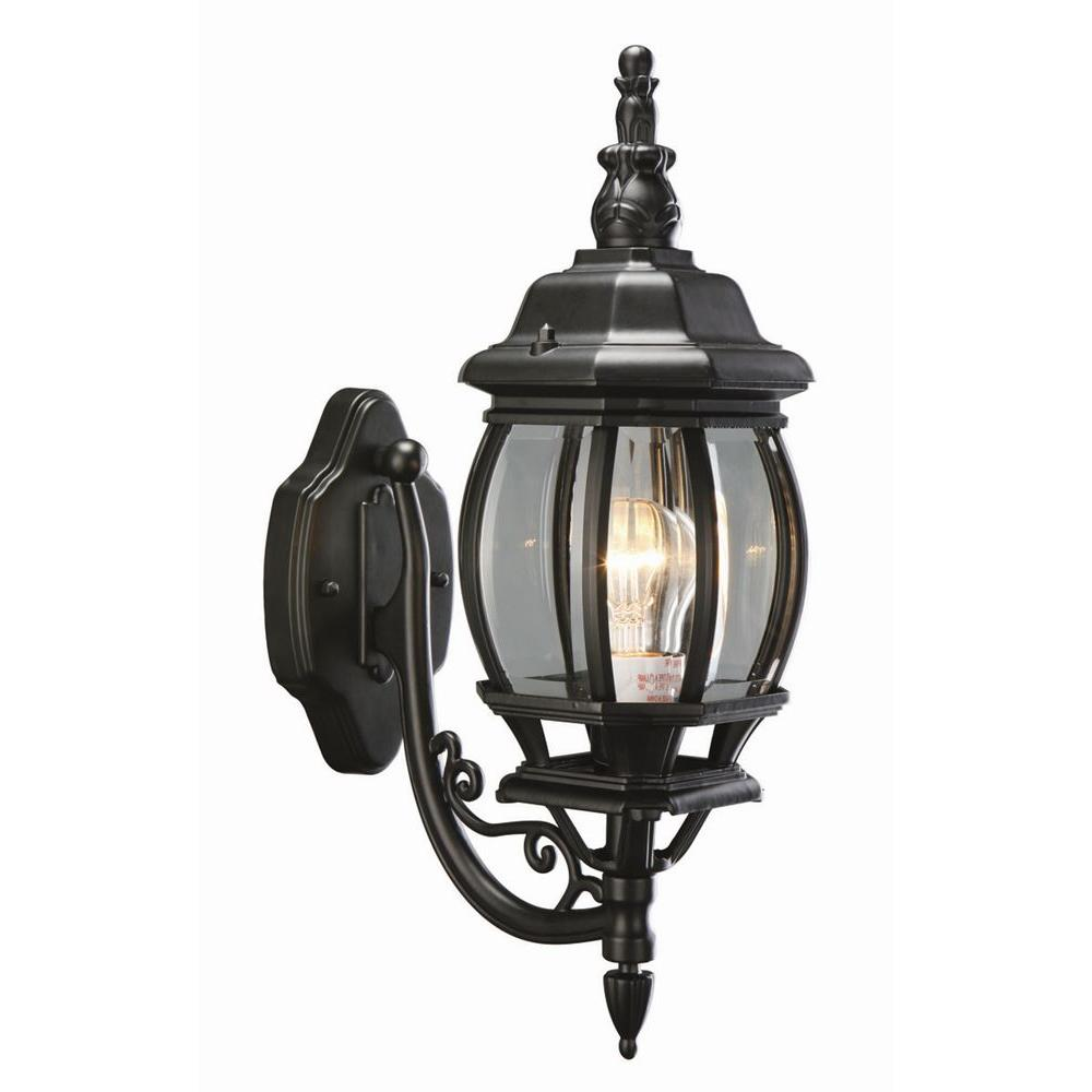 Design House Canterbury Black Outdoor Wall-Mount Die-Cast Uplight
