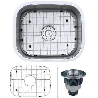 21 in. x 18 in. Single Bowl Undermount 16-Gauge Stainless Steel Bar Prep Kitchen Sink