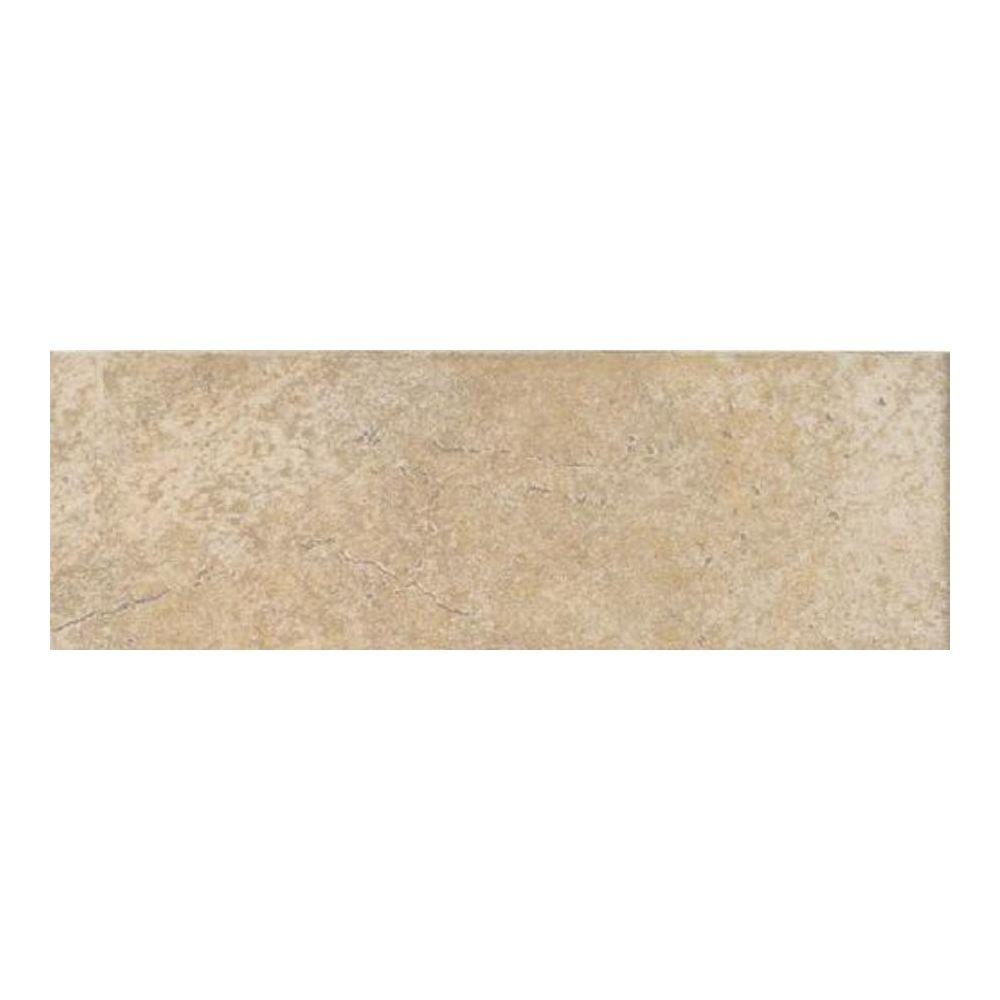 Daltile Grand Cayman Oyster 3 In X 12 Porcelain Bullnose Floor And Wall