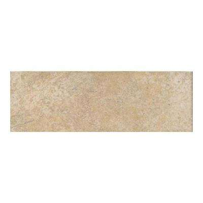 Grand Cayman Oyster 3 in. x 12 in. Porcelain Bullnose Floor and Wall Tile (0.25702 sq. ft. / piece)