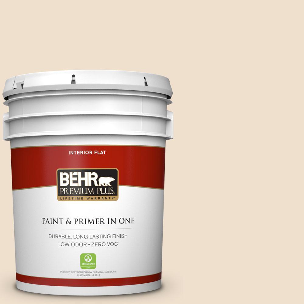 BEHR Premium Plus 5-gal. #N280-1 Scroll Flat Interior Paint