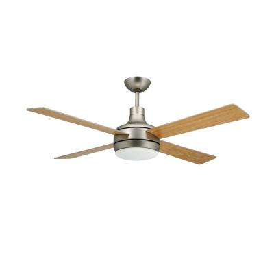 Quantum 52 in. Satin Steel Ceiling Fan