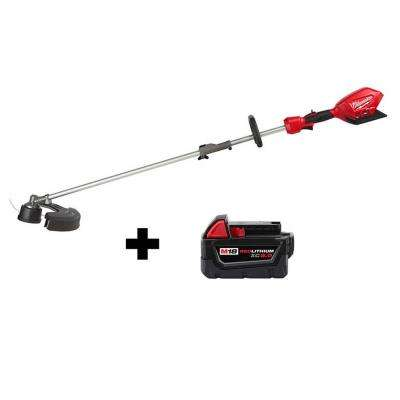 M18 FUEL 18-Volt Lithium-Ion Cordless Brushless String Grass Trimmer W/ Attachment Capability W/ M18 5.0Ah Battery