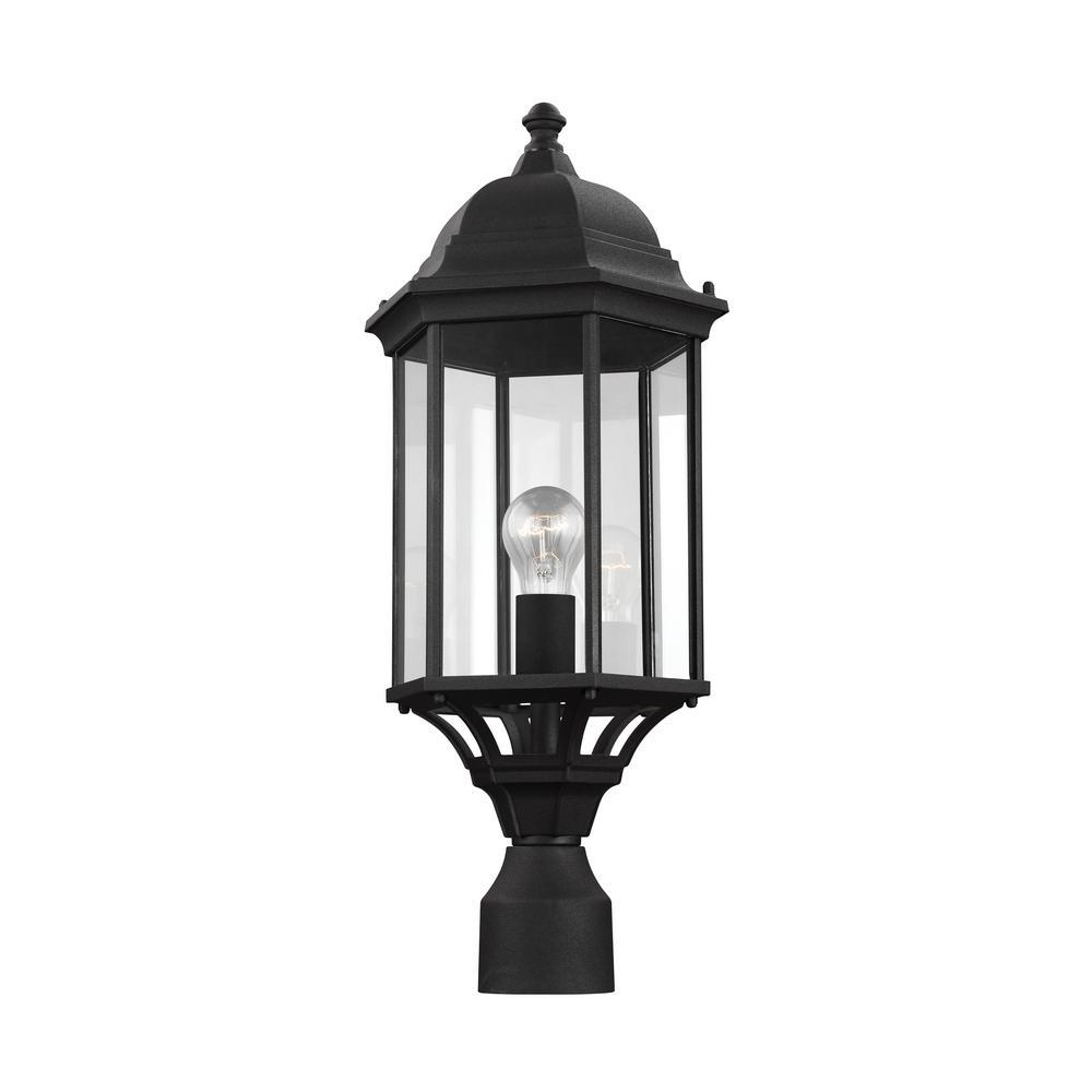 Sevier 1-Light Outdoor Black Post Light