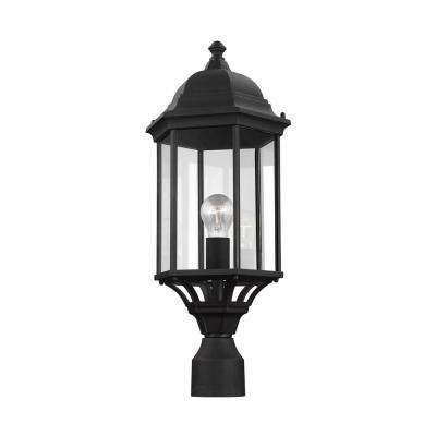 Sevier 1-Light Outdoor Black Post Light